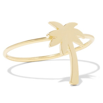 Mini Palm Tree Gold Ring