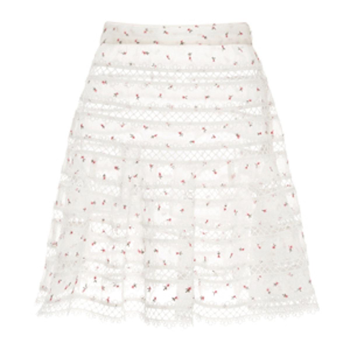 Mischief Rosebud Printed Mini Skirt