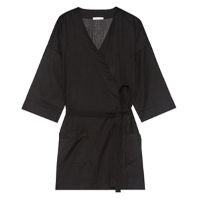 Skin Ryder Striped Pima Cotton Robe