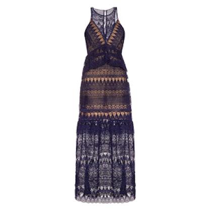 Teardrop-Lace Sleeveless Maxi Dress