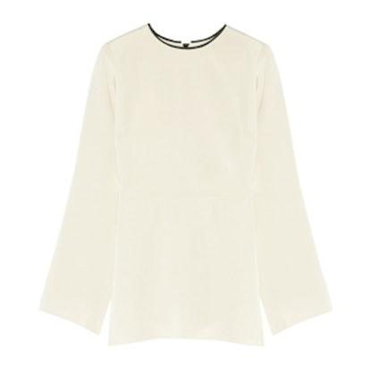 Sienna Silk-Blend Crepe Top
