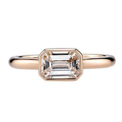 1.26 Carat Emerald-Cut Diamond Ring