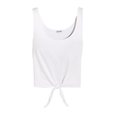 Tie-Front Cotton-Jersey Top