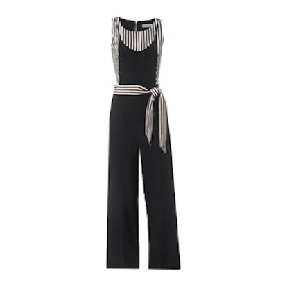 Bea Striped Crepe Jumpsuit