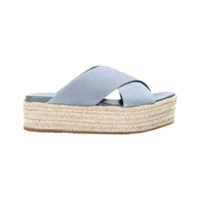 Suede Platform Espadrille-Style Platform Sandals