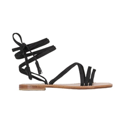Lace-Up Suede Sandals
