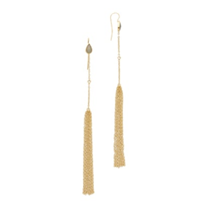 JA Labradorite Chain Tassel Earrings