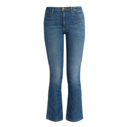 The Nerd High-Rise Cropped Kick-Flare Jeans