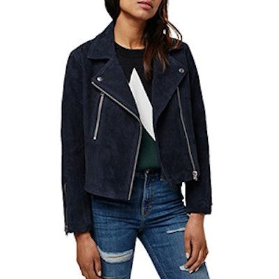Julia Suede Moto Jacket