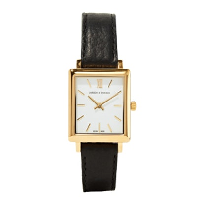 Norse Leather And Gold-Plated Watch
