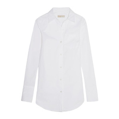 Stretch-Cotton Poplin Shirt