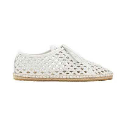 Woven Leather Espadrille Sneakers