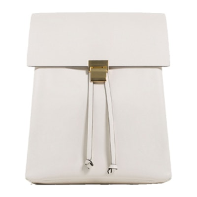 Backpack With Metallic Fastening