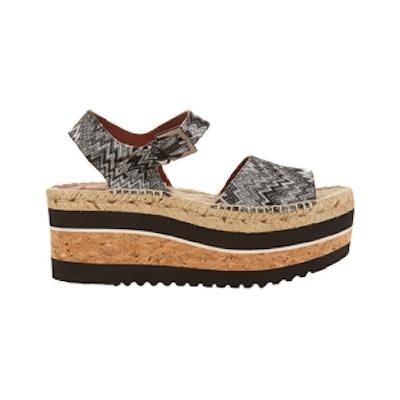 Zigzag Espadrille Flatform Sandals