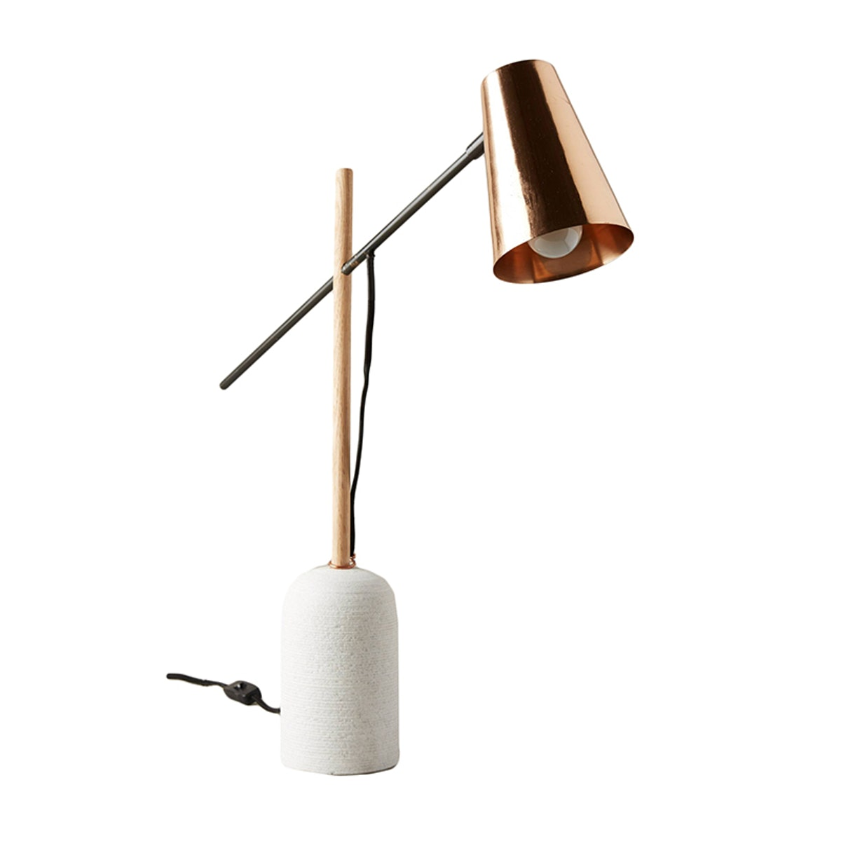 Slanted Copper Table Lamp