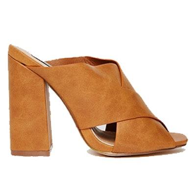 Rita Cross Front Mule Heeled Sandals