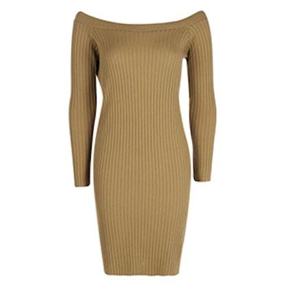Lauren Rib Knit Bardot Mini Dress