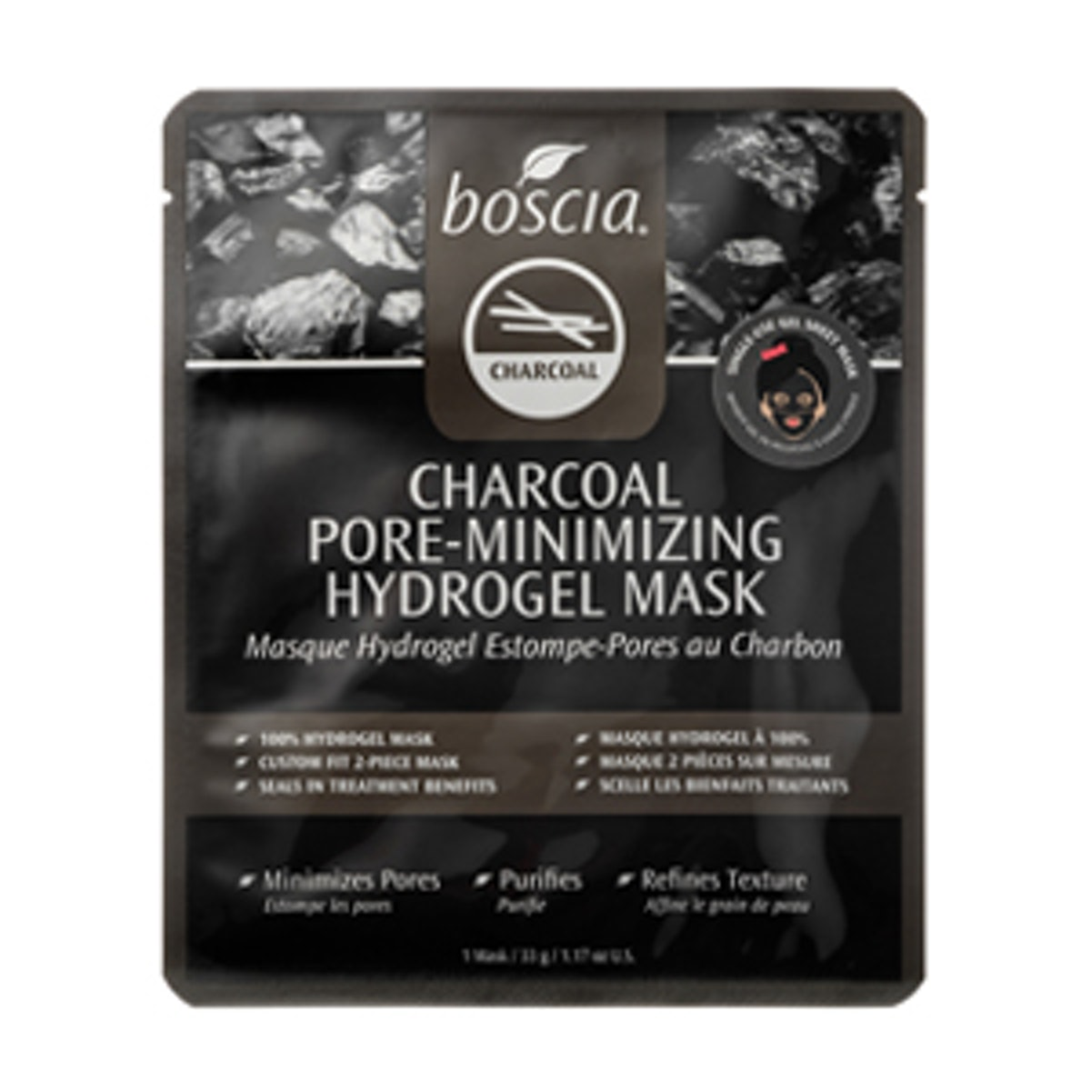 Charcoal Pore-Minimizing Hydrogel Mask