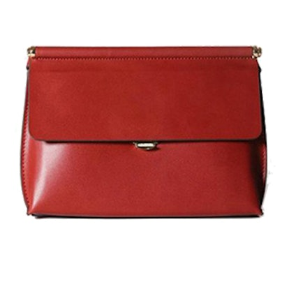 Mini Red Leather Crossbody Bag