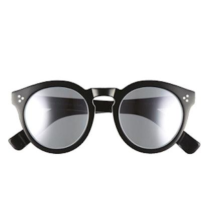 Leonard II 50mm Round Mirrored Sunglasses