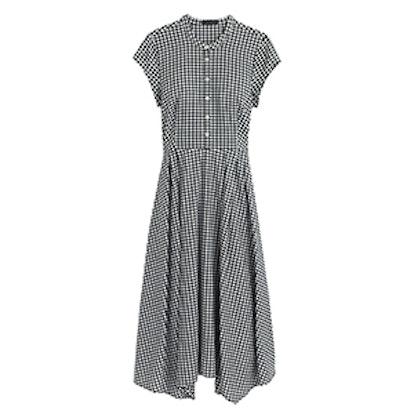 Gingham Short-Sleeve Shirtdress