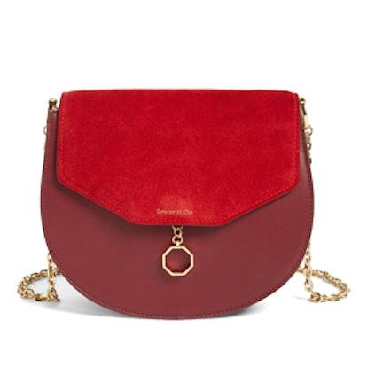 Jael Suede & Leather Shoulder Bag