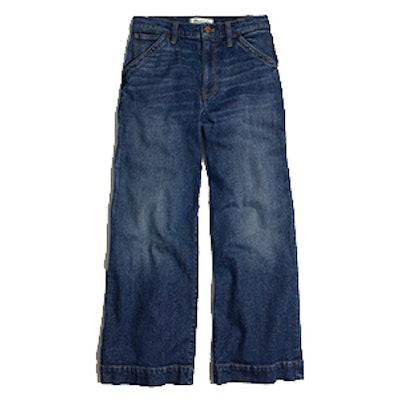 Wide-Leg Crop Jeans