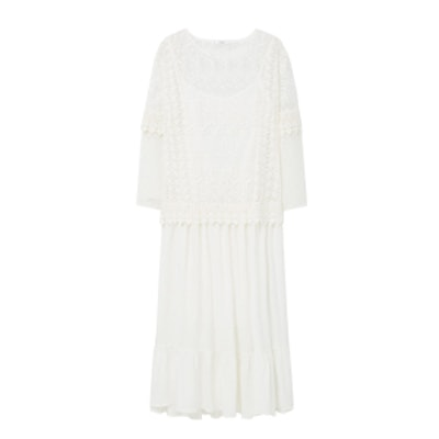 Blond-Lace Panel Dress