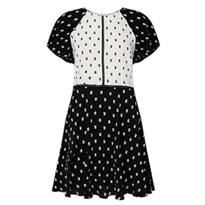 Mixed Print Tea Dress