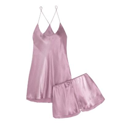 Bella Silk-Satin Pajama Set