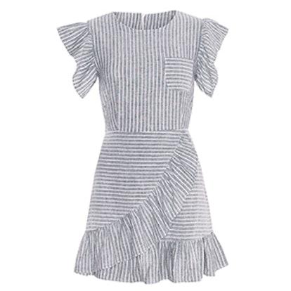 Striped Ruffled Dress