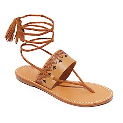 Flat Lace Up Sandals