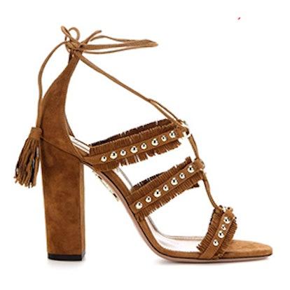 Tulum 105 Embellished Suede Sandals