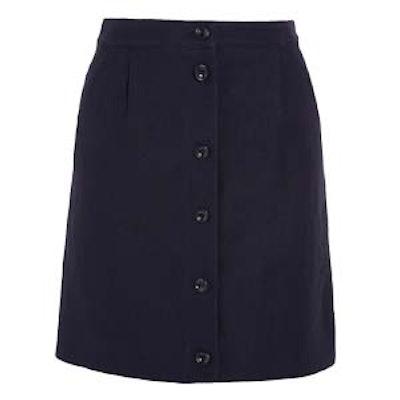 Monica Linen and Cotton-Blend Mini Skirt