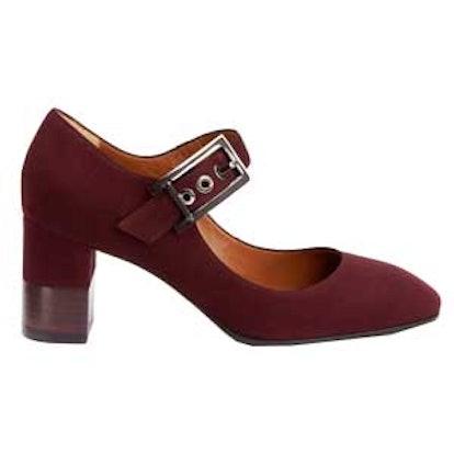 Elsie Suede Mary Jane Block-Heel Pumps