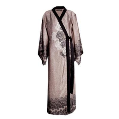 Satin Maxi Kimono Robe