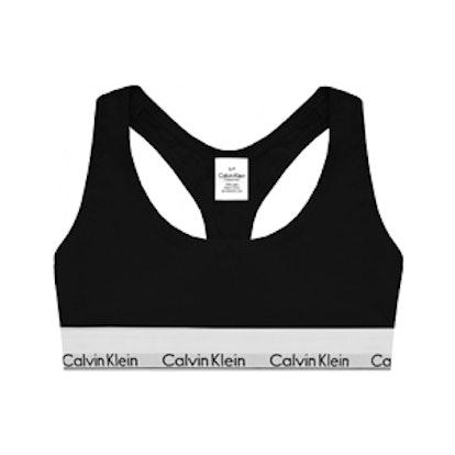 Modern Cotton Stretch Cotton-Blend Soft-Cup Bra
