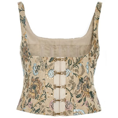 Berenice Floral Jacquard Bustier