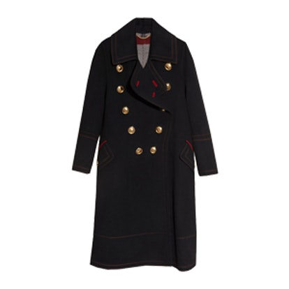 Double-Breasted Wool Cashmere Military Coat
