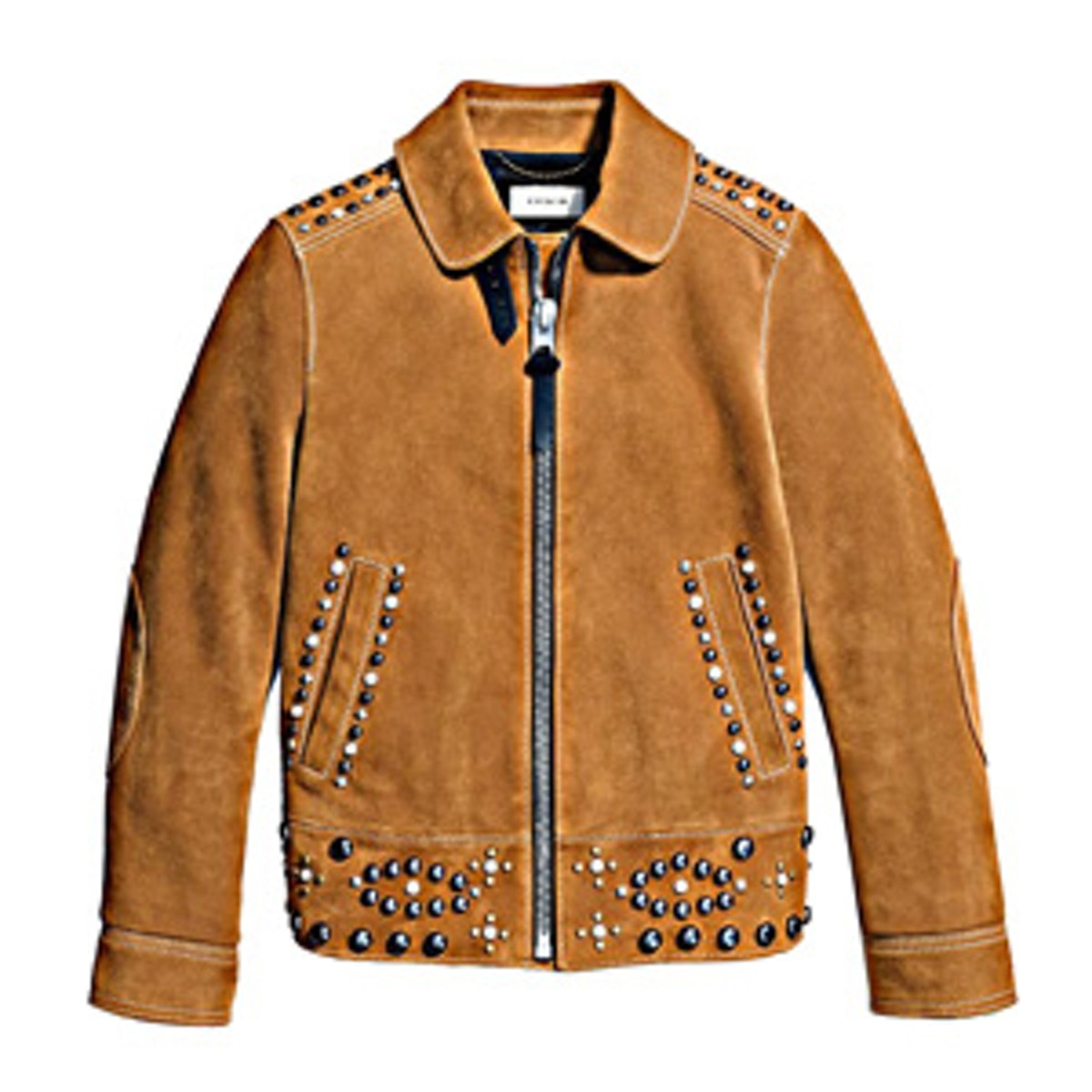 Suede Jacket With Studs