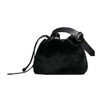 Contrast Lambskin Crossbody Bag