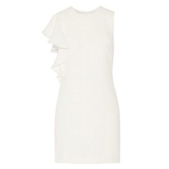 Luca Ruffle-Trimmed Crepe Mini Dress