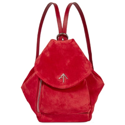 Fernweh Mini Leather-Trimmed Suede Backpack