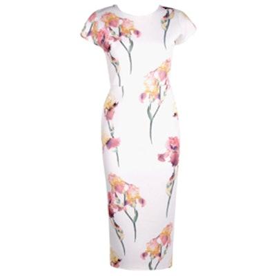 Floral Cap Sleeve Midi Dress
