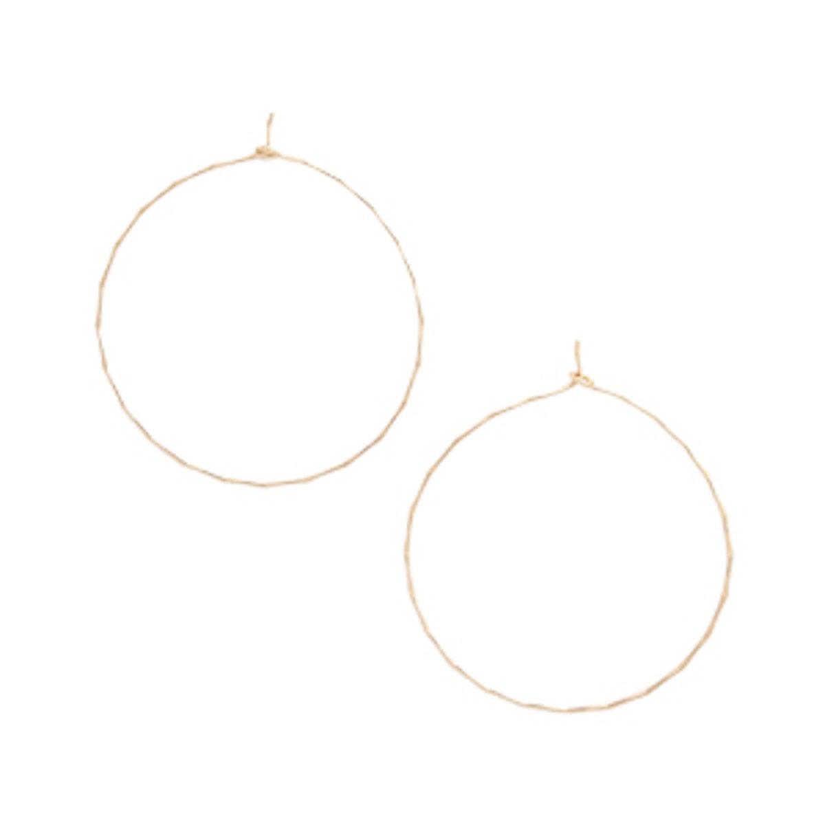 Dainty Hammered Hoop Earrings