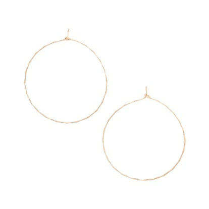 Dainty Hammered Hoop Earrings