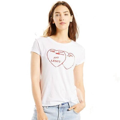 The Perfect Tee in You Me Levis White