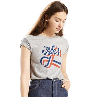 The Vintage Perfect Tee in Grey Graphic
