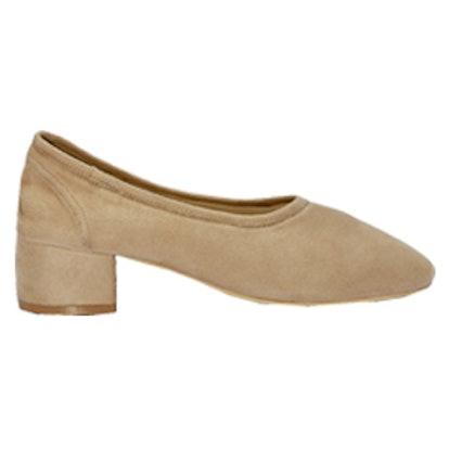 Taupe Socks Flat Heel