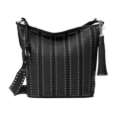 Brooklyn Large Grommet Leather Feed Bag
